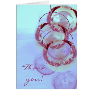 Wine glasses wine themed thank you card