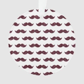 Wine Glitter Mustache Pattern Printed
