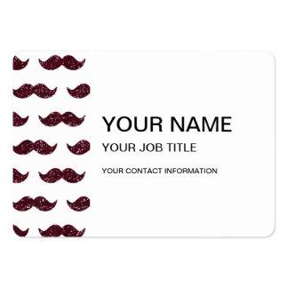 Wine Glitter Mustache Pattern Printed Large Business Card