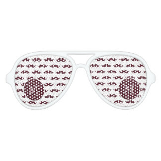 Wine Glitter Mustache Pattern Your Monogram Aviator Sunglasses