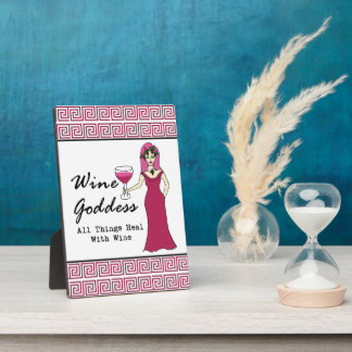 """Wine Goddess """"All Things Heal Key Plaque"""