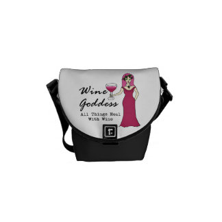 """Wine Goddess """"All Things Heal..."""" Courier Bag"""