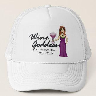 "Wine Goddess ""All Things Heal W/Wine"" Trucker Hat"
