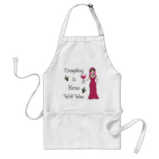 "Wine Goddess Simply Divine ""Better With Wine"" Adult Apron"