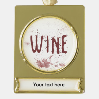 Wine Gold Plated Banner Ornament