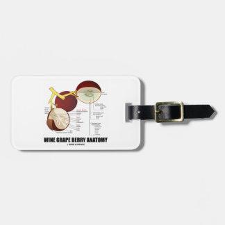 Wine Grape Berry Anatomy Scientific Diagram Bag Tag