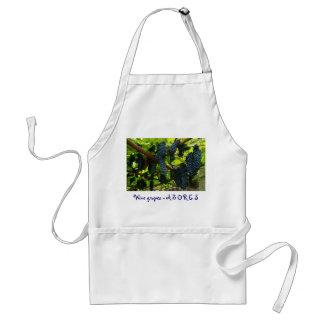 Wine grapes adult apron