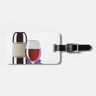 Wine & Grapes Bag Tag