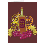 Wine & Grapes Blank Notecard Stationery Note Card