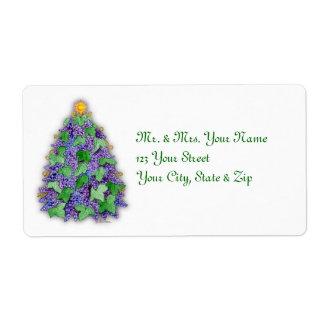Wine Grapes Christmas Tree Label