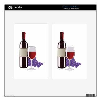 Wine & Grapes Kindle Fire Skins