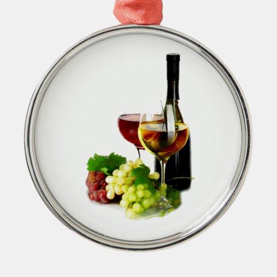 Wine Grapes Metal Ornament