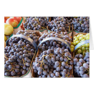 Wine Grapes Notecard, by Brad Hines Card