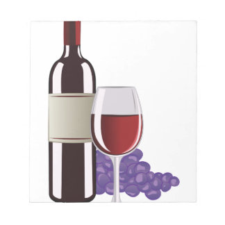 Wine & Grapes Notepad