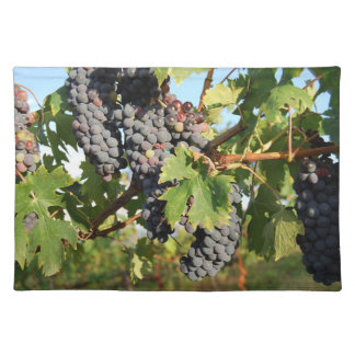 Wine Grapes On Vine Placemat