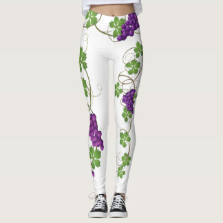 Wine Grapes on Vines - Leggings
