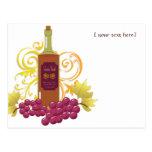 Wine & Grapes Postcards