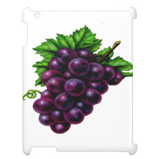 Wine Grapes Purple iPad Cases