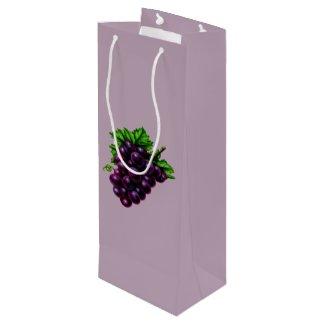 Wine Grapes Purple Wine Gift Bag