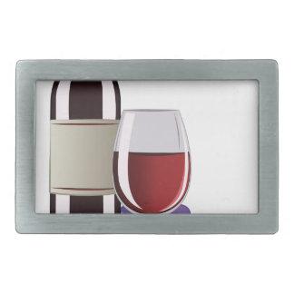 Wine & Grapes Rectangular Belt Buckle