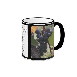 Wine grapes ringer mug