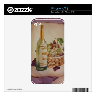 Wine & Grapes Skins For iPhone 4S