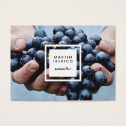 Wine Grapes Sommelier or Vintner Business Cards