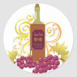 Wine & Grapes Stickers