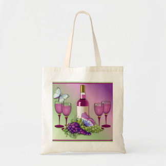 Wine & Grapes Toast Tote Bag