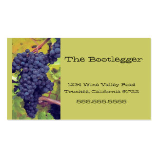 Wine-Grapes-Vineyard- Italian Resturant Double-Sided Standard Business Cards (Pack Of 100)