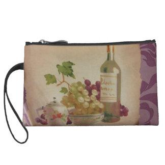 Wine & Grapes Wristlet Wallet