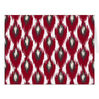 Wine Gray Abstract Tribal Ikat Diamond Pattern Card