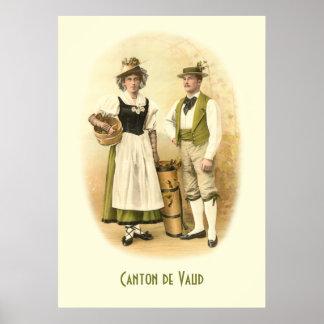 Wine Growers from the Canton de Vaud, Switzerland Poster