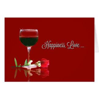 Wine Happiness Love Valentine's Day Card