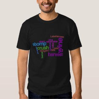 Wine Harvest Words Shirt
