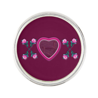 Wine Hearts & Roses X's & O's Photo Frame Pin