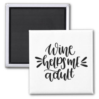 wine helps me adult magnet