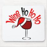 Wine Ho Ho Mouse Pad