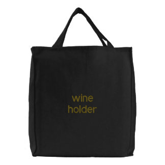 WINE HOLDER EMBROIDERED TOTE BAG