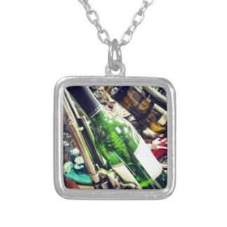 Wine Holders Silver Plated Necklace
