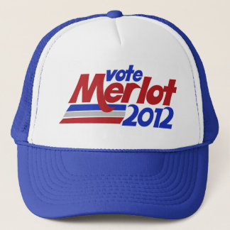 Wine humor about Merlot 2012 Trucker Hat