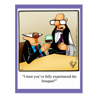 "Wine Humor ""Experience The Bouquet"" Postcard"