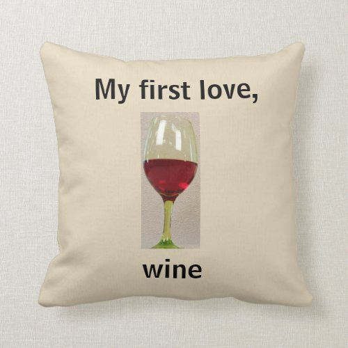 Wine Humor Throw Pillow