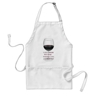 WINE - I LOVE COOKING WITH WINE ADULT APRON