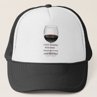 WINE - I LOVE COOKING WITH WINE TRUCKER HAT
