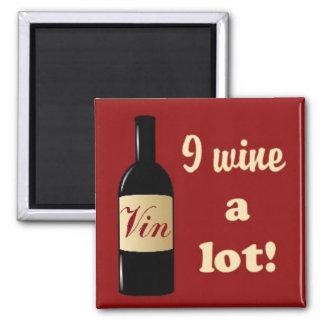 Wine imán mucho cuadrado