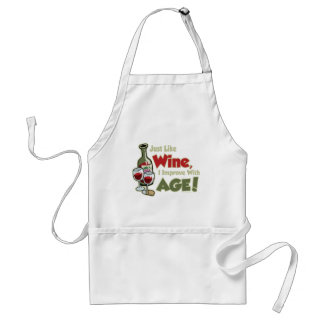 Wine Improve With Age Adult Apron