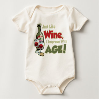 Wine Improve With Age Baby Bodysuit