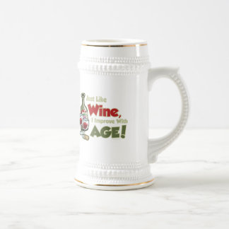 Wine Improve With Age Beer Stein
