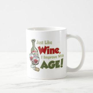 Wine Improve With Age Coffee Mug
